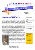 DEPECHE 122 Matrice réalisation